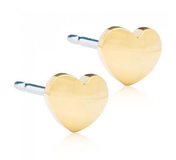 Blomdahl Heart ørering 8 mm - forgyldt