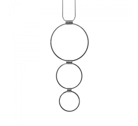 Dansk Copenhagen Tamara 3 Circles Necklace Hematite Plating