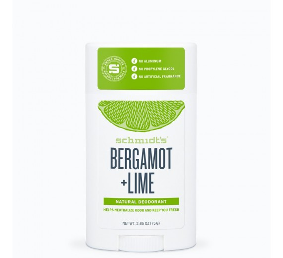 Schmidt's Natural Deo Stick Bergamot + Lime 92 g
