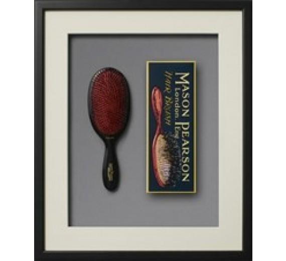 Mason Pearson børste - Popular Bristle & Nylon BN 1, Dark Ruby