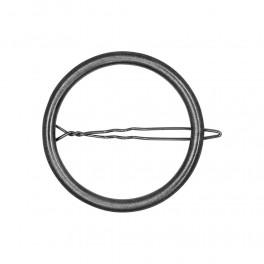 Dansk Copenhagen Infinity Hair Clip Hematite Plating.-20