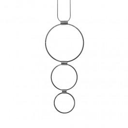 Dansk Copenhagen Tamara 3 Circles Necklace Hematite Plating-20