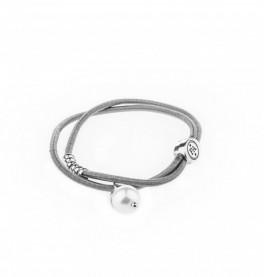 Petite Affaire grå hårelastik med sølv perle-20