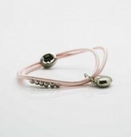 Petite Affaire sart rosa hårelastik med sølv hjerte-20